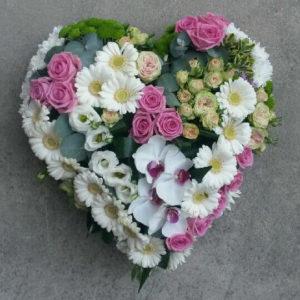 Coeur plein tons pastels