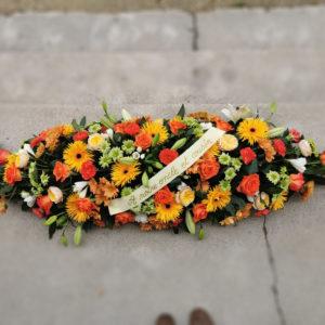 Dessus de cercueil tons chauds
