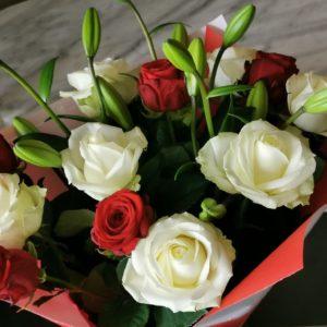 """Bouquet tige """"Anniversaire de Mariage"""""""
