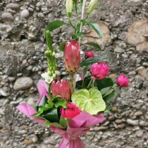 "Bouquet bulle hauteur "" Maman Girly"""