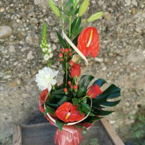 """Bouquet bulle hauteur """" Maman d'amour"""""""