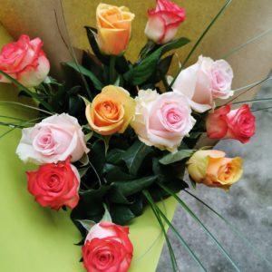 """Bouquet tige """"Mix de roses"""""""