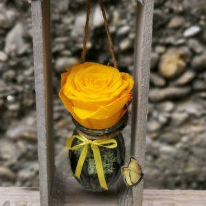 Rose éternelle suspendue (Jaune)