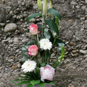 Composition «Rose» hauteur