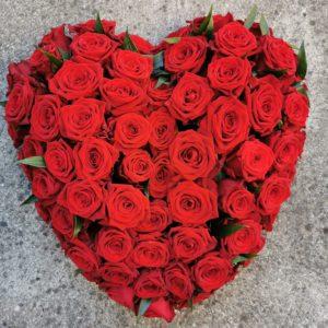 Coeur plein Roses rouge