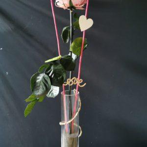 Rose éternelle Rose Pâle dans soliflore